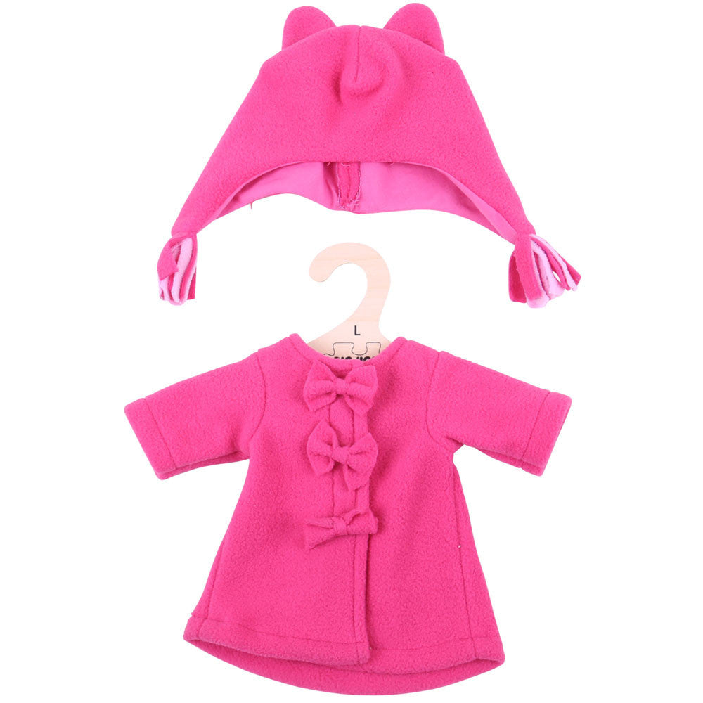 Fleece Coat and Hat rag doll clothes 38cm