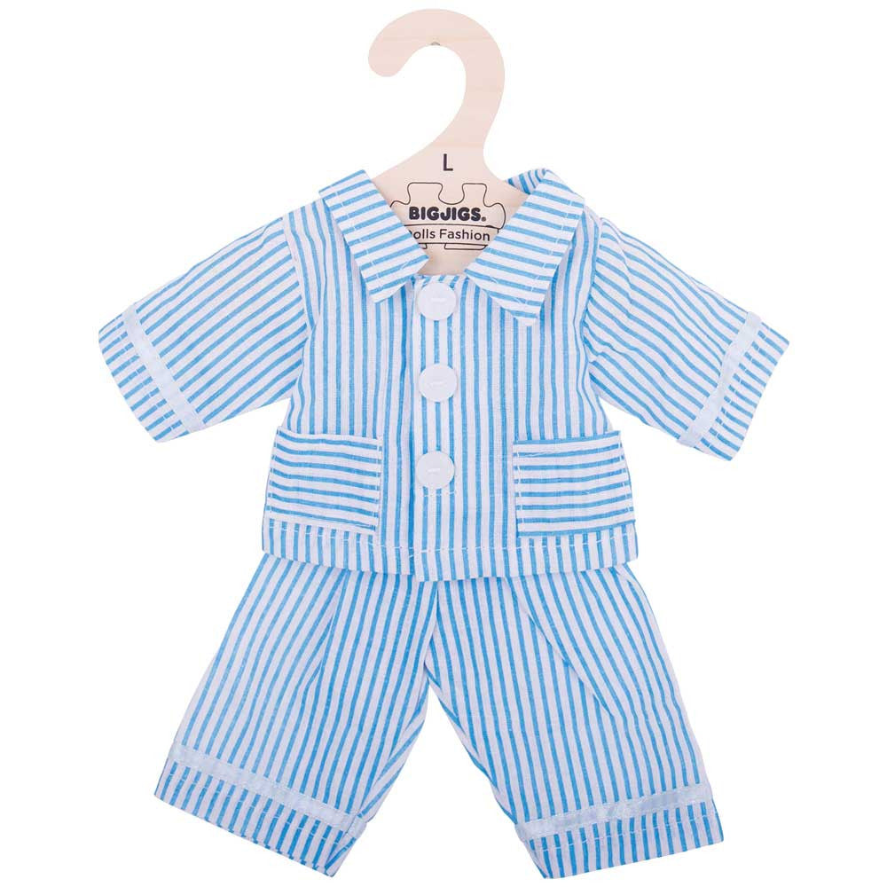 Blue Pyjamas Rag Doll Clothes 38cm