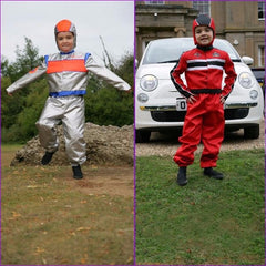Astronaut/racing driver 2-in-1 fancy dress - Kiddymania