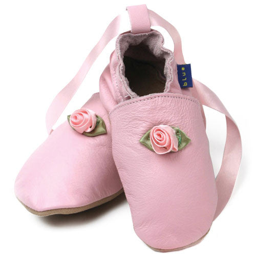 Inch Blue Baby shoes - Pink Ballet shoes - Kiddymania