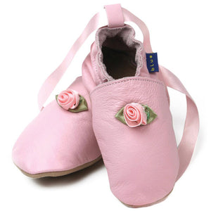 Inch Blue Baby shoes - Pink Ballet shoes 12-18 months - Kiddymania Rag Dolls