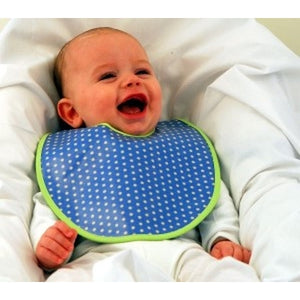 Beauty and the Bib Sky Polka Dot Bib - Kiddymania Rag Dolls