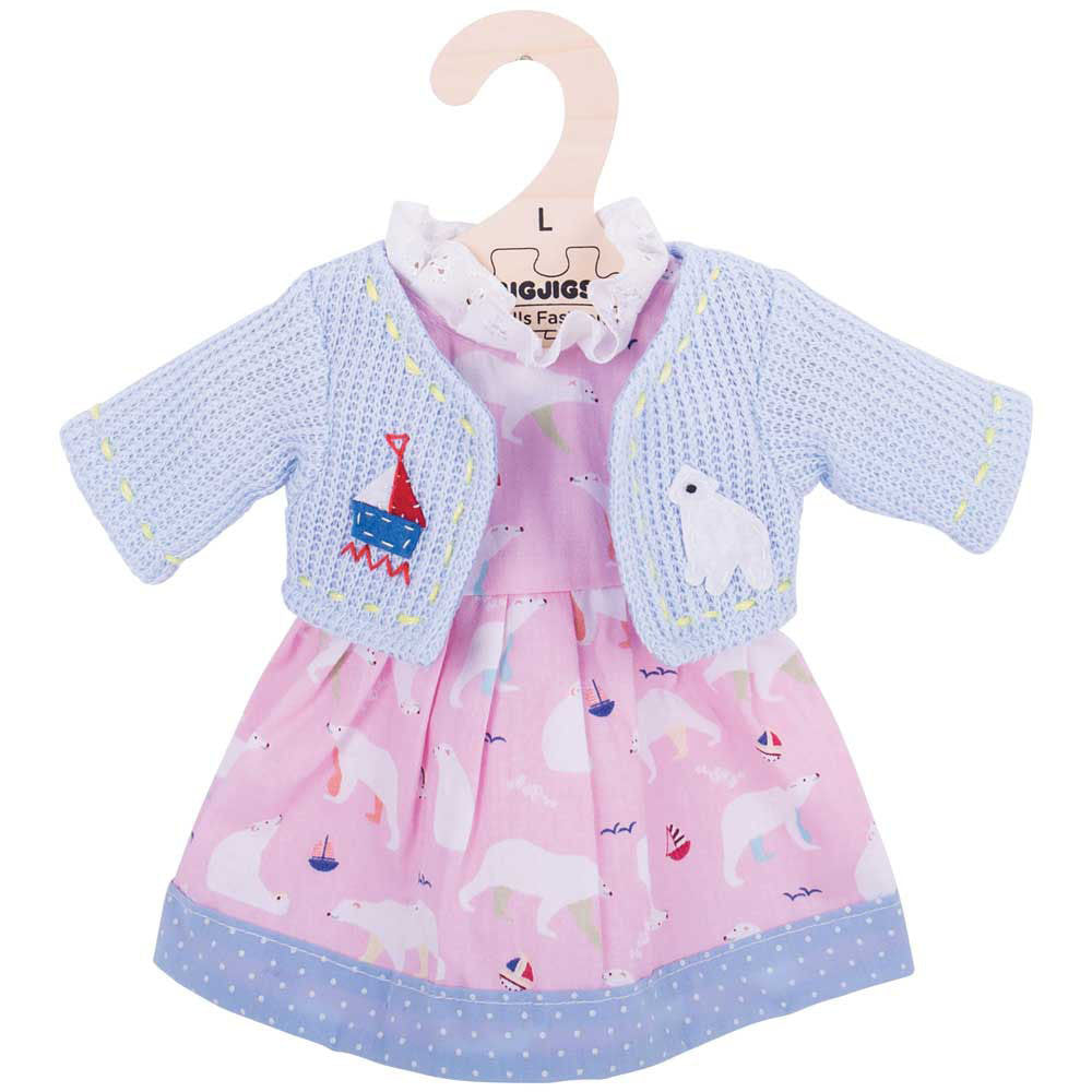 Polar Bear Rag Doll Dress 38cm