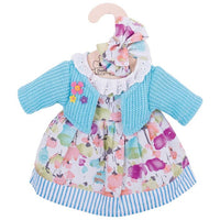 Turquoise cardigan and Dress - for 34cm Doll