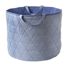 Blue Gingham Toy Storage Basket - Kiddymania Rag Dolls