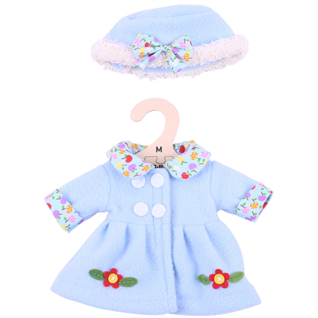 Blue Coat and Hat - for 34cm Doll - Kiddymania Rag Dolls