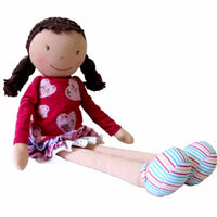 Bonikka Willettes Emily Rose - Fair Trade Rag doll - Kiddymania Rag Dolls