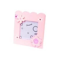 Wooden Flower Picture Frame - Kiddymania Rag Dolls