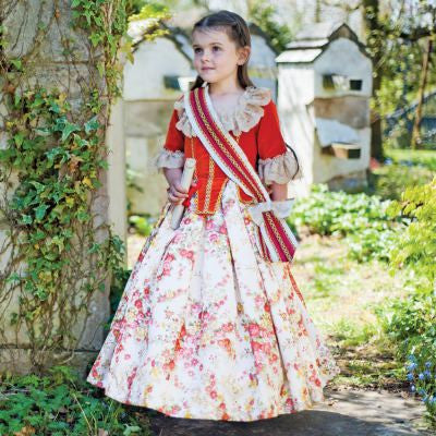 Floral Countess Girls Fancy Dress Costume