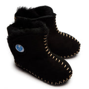 Cwtch Sheepskin Bootees Black - Kiddymania Rag Dolls