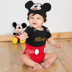 Disney Mickey Mouse  - Jersey Bodysuit and Hat