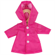 Pink Raincoat - for 34cm Doll - Kiddymania Rag Dolls