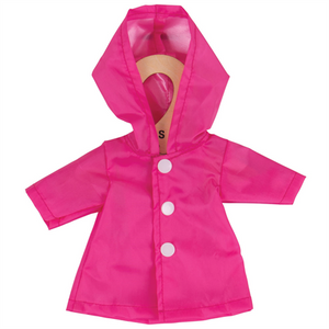 Pink Raincoat - for 28cm Doll - Kiddymania Rag Dolls