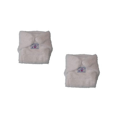 Pack of 2 White terry doll's nappies - Kiddymania