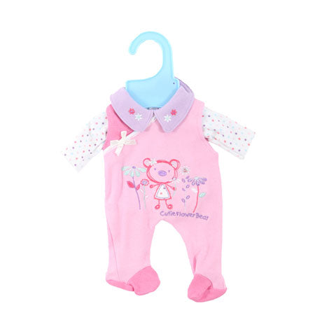 "Dolly Designs Cutie Flower Bear Babygro 16""-18"""