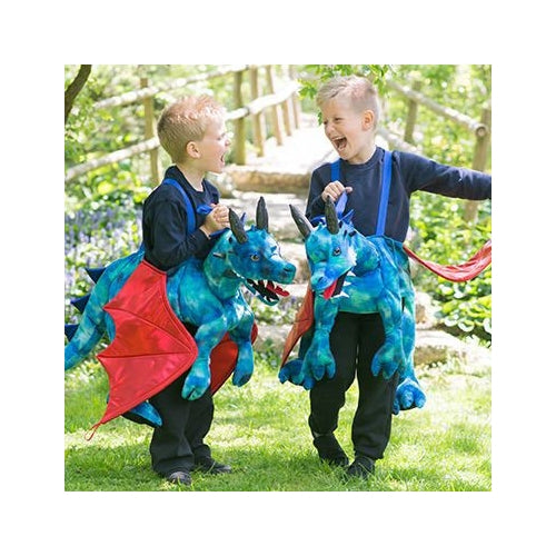 Ride on Dragon Costume - one size 3+