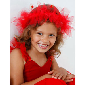 Frilly Lily Ruby Fancy Dress Headress - Kiddymania Rag Dolls