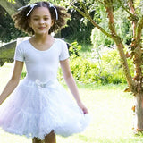 Frothy Tutu Silver sequin Girls Fancy Dress