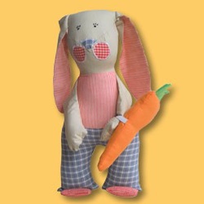 Hadas Hall Mr Bunny Large Soft Doll - Kiddymania Rag Dolls