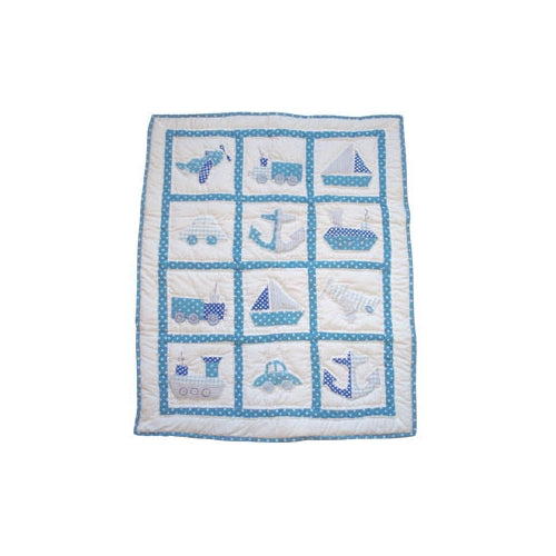 Powell Crafts Handmade designer Cot Quilt Boats - Kiddymania