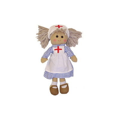Powell Craft Handmade Rag Doll Nurse 40 cm - Kiddymania Rag Dolls
