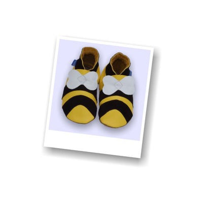 Inch Blue Bumble Bee Baby Shoes - Kiddymania Rag Dolls