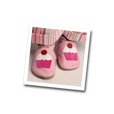 Inch Blue Cupcake Baby Girls Shoes - Kiddymania