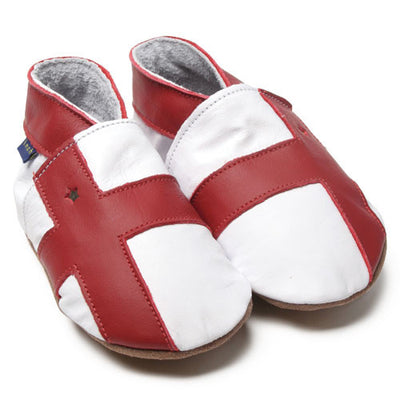 Inch Blue England World Cup Football Baby Shoes - Kiddymania