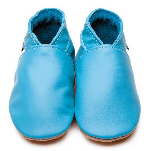 Inch Blue Baby shoes - Plain Baby Blue