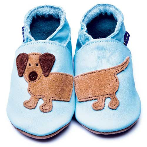 Inch Blue Baby shoes - Dashund Baby Blue