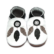 Inch Blue Leather Baby shoes Dreamcatcher