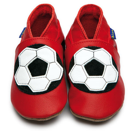 Inch Blue Baby shoes - Football red