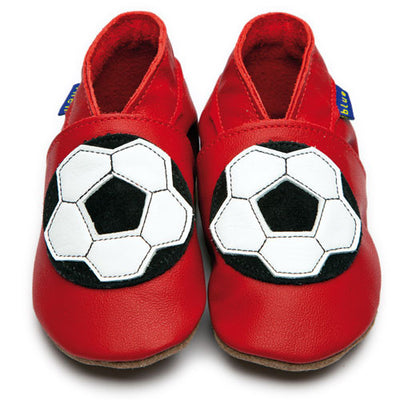 Inch Blue Baby shoes - Football red - Kiddymania