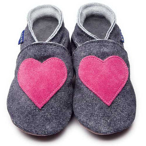 Inch Blue Baby shoes - Love Denim - Kiddymania Rag Dolls