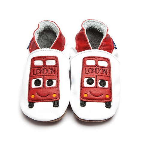 Inch Blue Baby shoes - Bus White