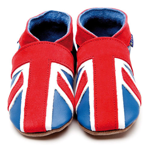 Inch Blue Baby shoes - Union Jack Blue Coral - Kiddymania