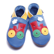 Inch Blue Baby shoes - Toot Train Blue - Kiddymania Rag Dolls