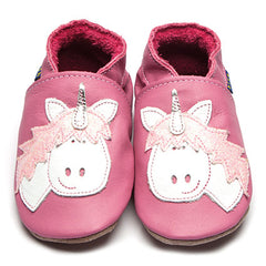 Unicorn handmade leather baby shoes
