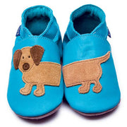Inch Blue Baby shoes - Dashound Turquoise - Kiddymania