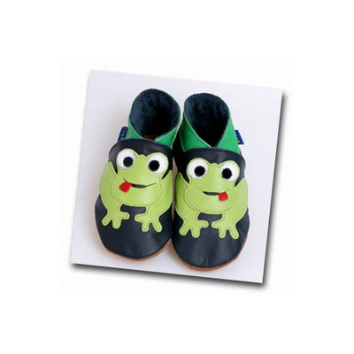 Inch Blue Frog Baby Boys Shoes-Navy - Kiddymania