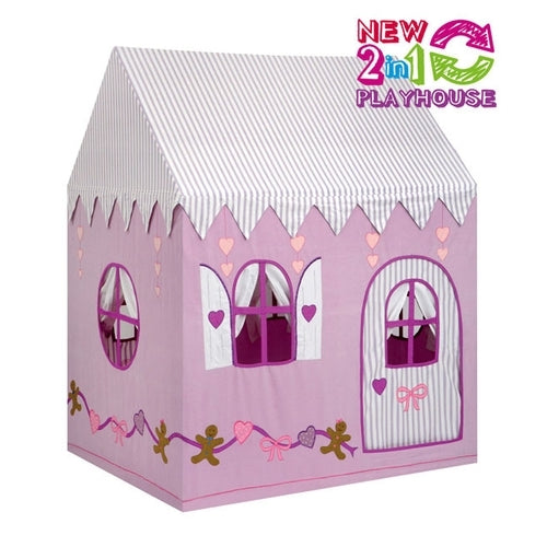 Gingerbread Cottage/Sweet Shop  2 in 1 Playhouse Large - Kiddymania Rag Dolls