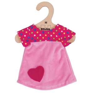 Pink Dress with Spots - for 34cm Doll