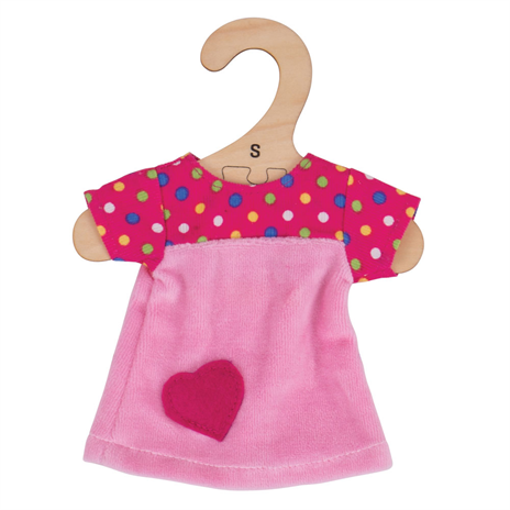 Pink Dress with Spots - for 28cm Doll