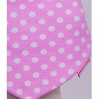 Beauty and the Bib Bandana Bib - Pink White Spot - Kiddymania Rag Dolls