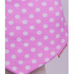 Beauty and the Bib Bandana Bib - Pink White Spot