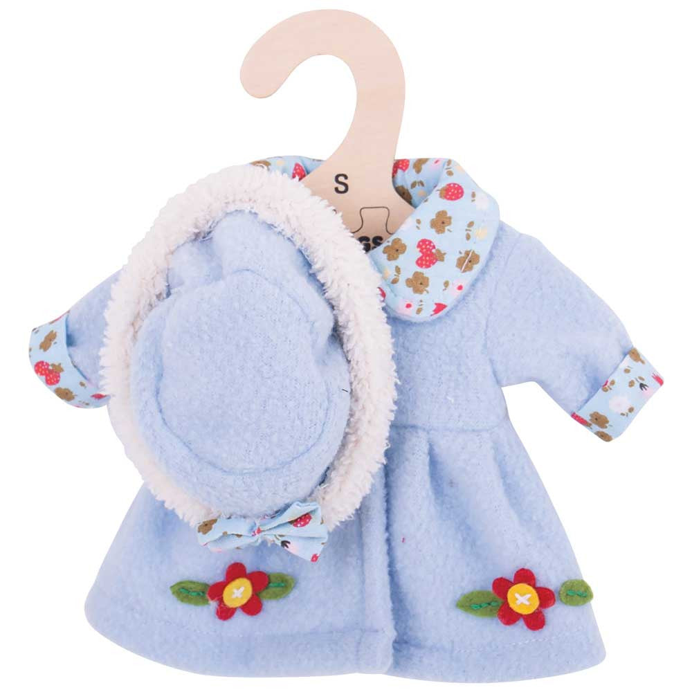 Blue Coat and Hat 28cm - Kiddymania Rag Dolls