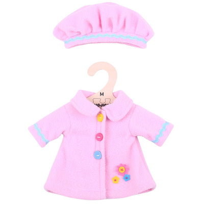 Pink Coat and Hat - for 34 cm Doll - Kiddymania Rag Dolls
