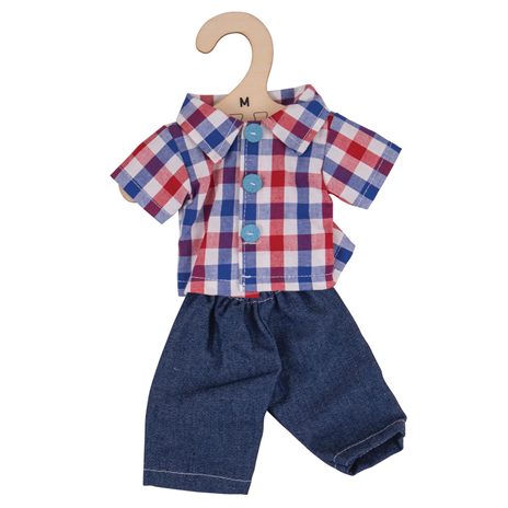Checked shirt and jeans - for 28cm Doll - Kiddymania Rag Dolls