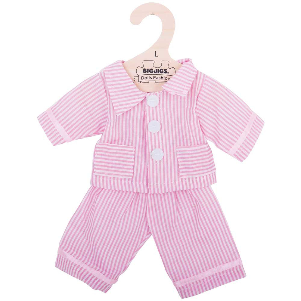 Pink pyjamas for 38 cm rag dolls