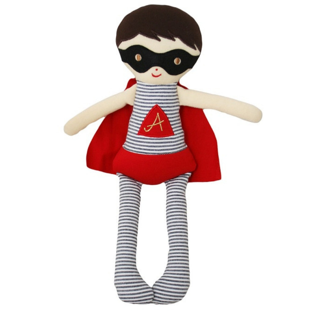 Super Hero Doll Rattle - 28 cm - Kiddymania Rag Dolls